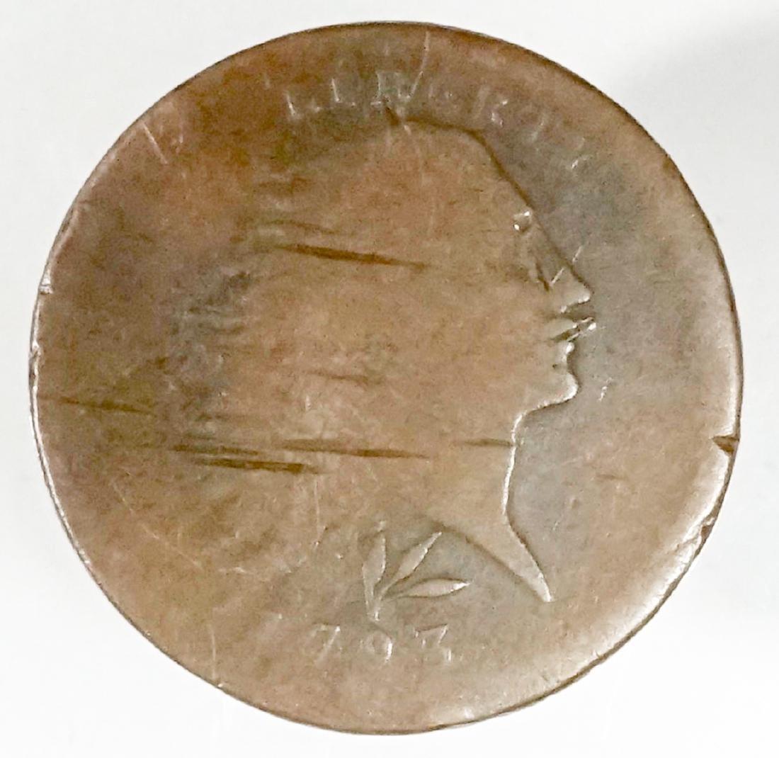 U.S. 1793 1C S-11c R-3 Coin
