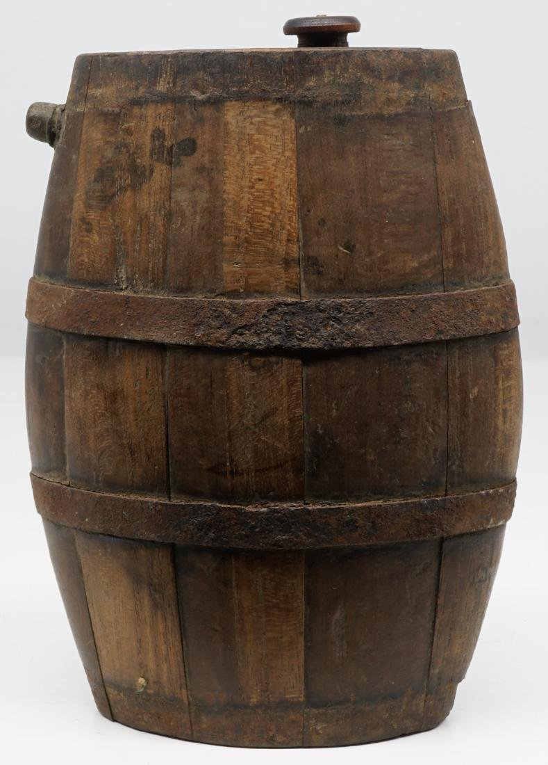Antique Wood Tankards, Steins and Flask - 6