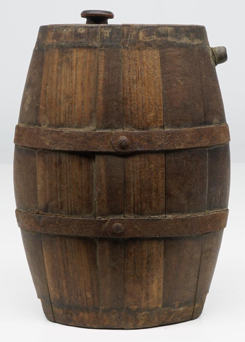 Antique Wood Tankards, Steins and Flask - 7