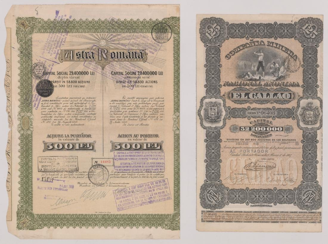 Foreign Stock Certificates (9) - 3