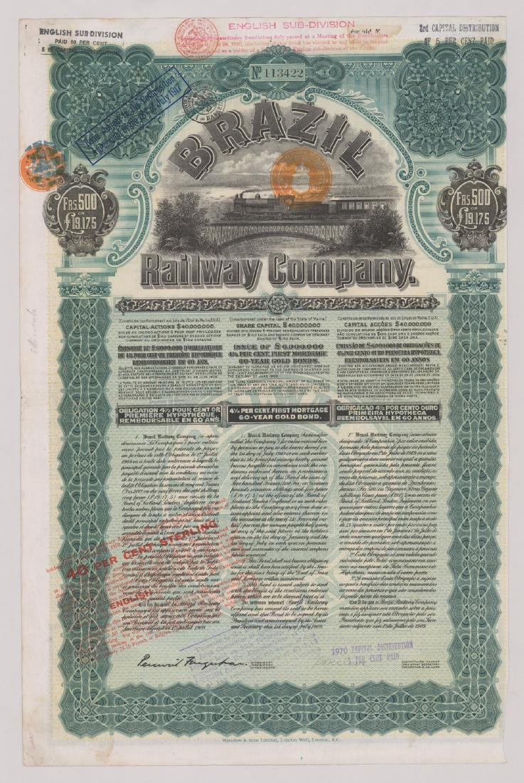 Foreign Stock Certificates (9) - 5