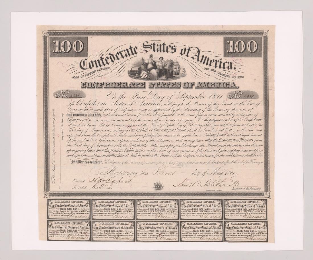 1871 Confederates States of America Bonds
