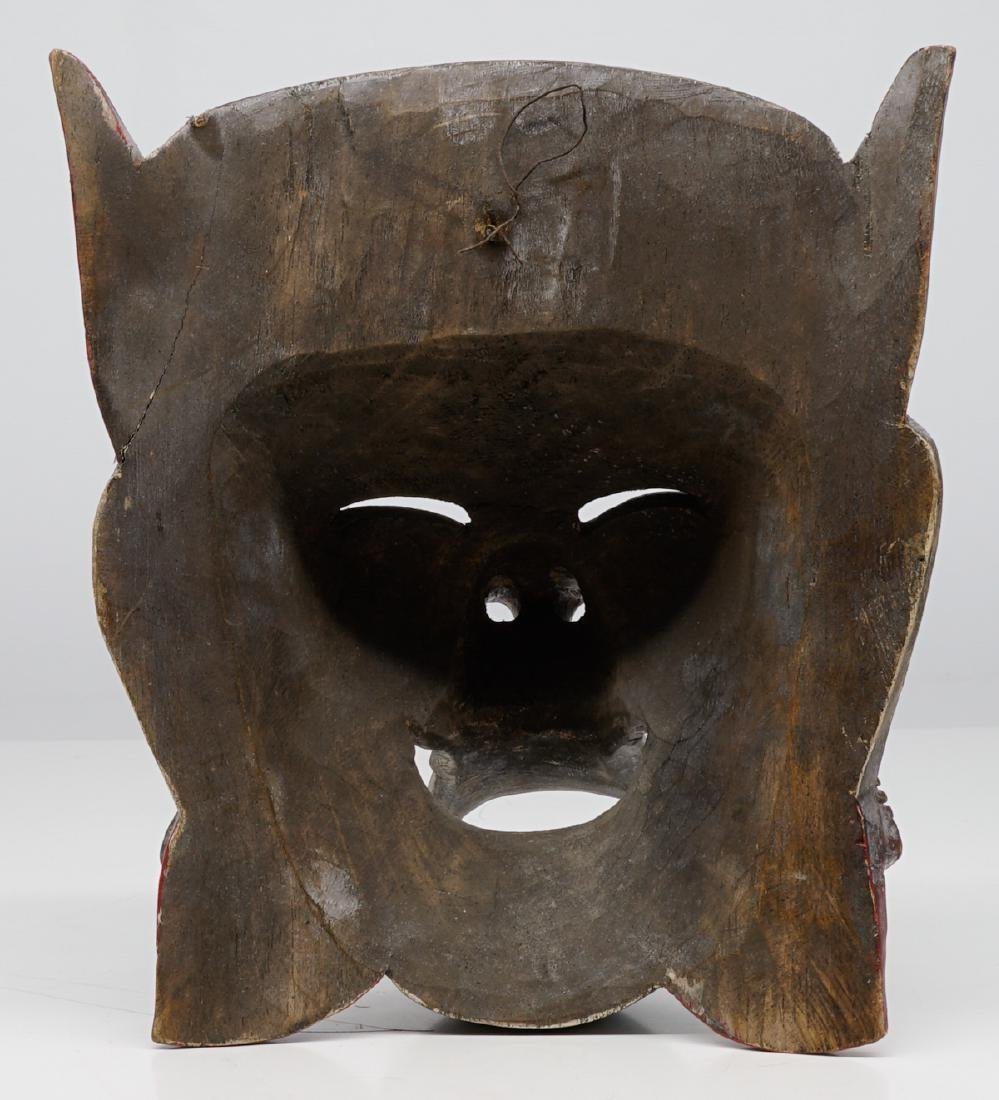 Two Southeast Asian Carved Wood Masks - 3