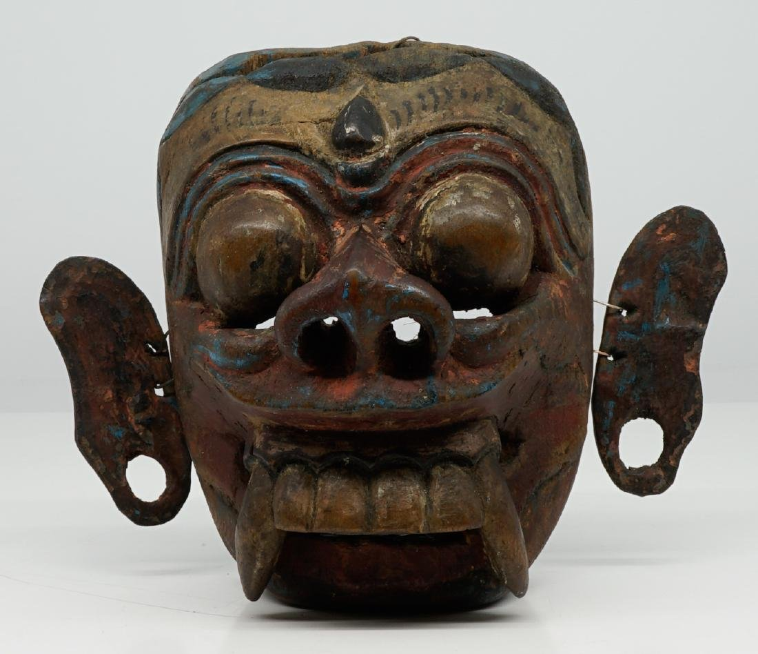 Two Southeast Asian Carved Wood Masks - 4