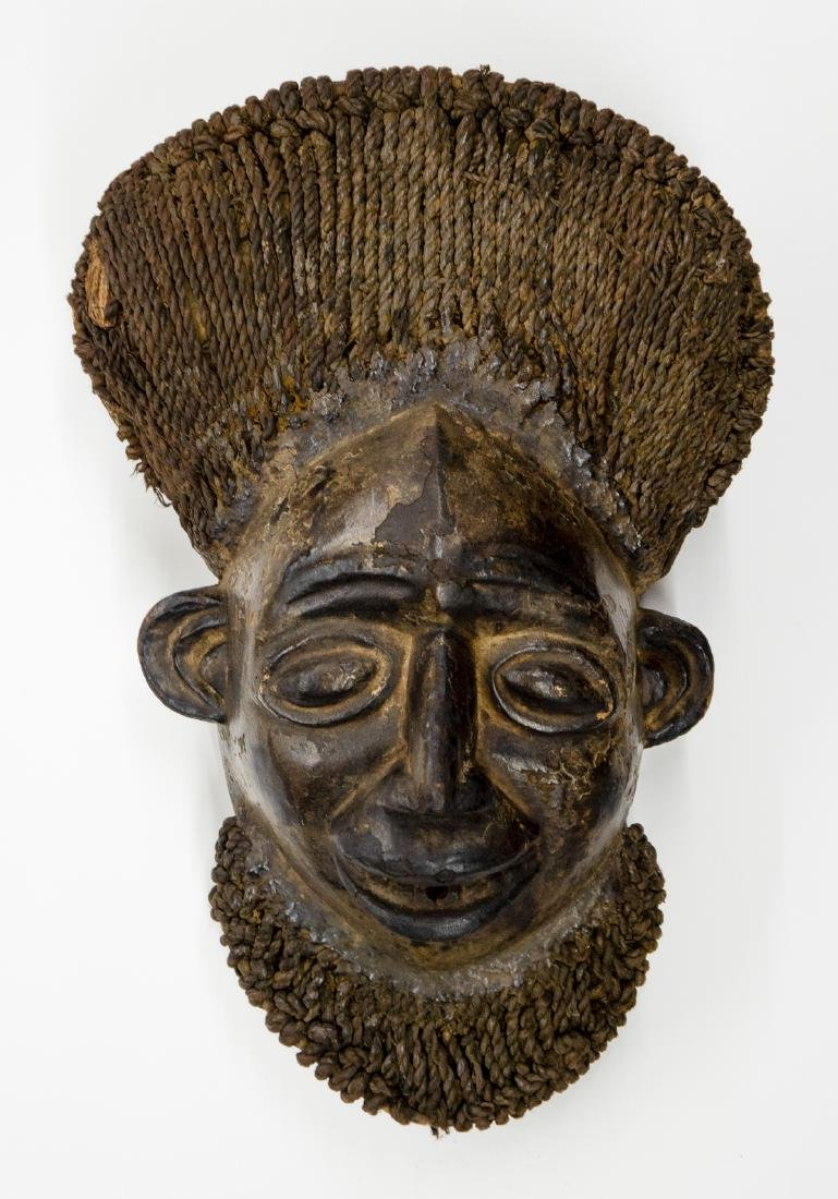 Kom Akam Wooden Cap Mask from Cameroon