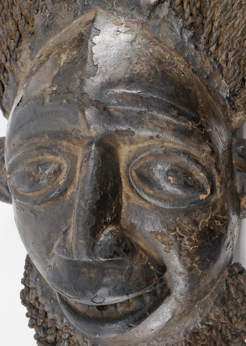 Kom Akam Wooden Cap Mask from Cameroon - 4