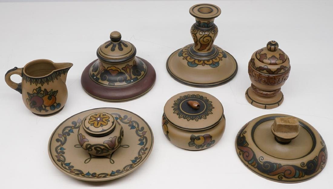 Group of Hjorth Denmark Art Pottery