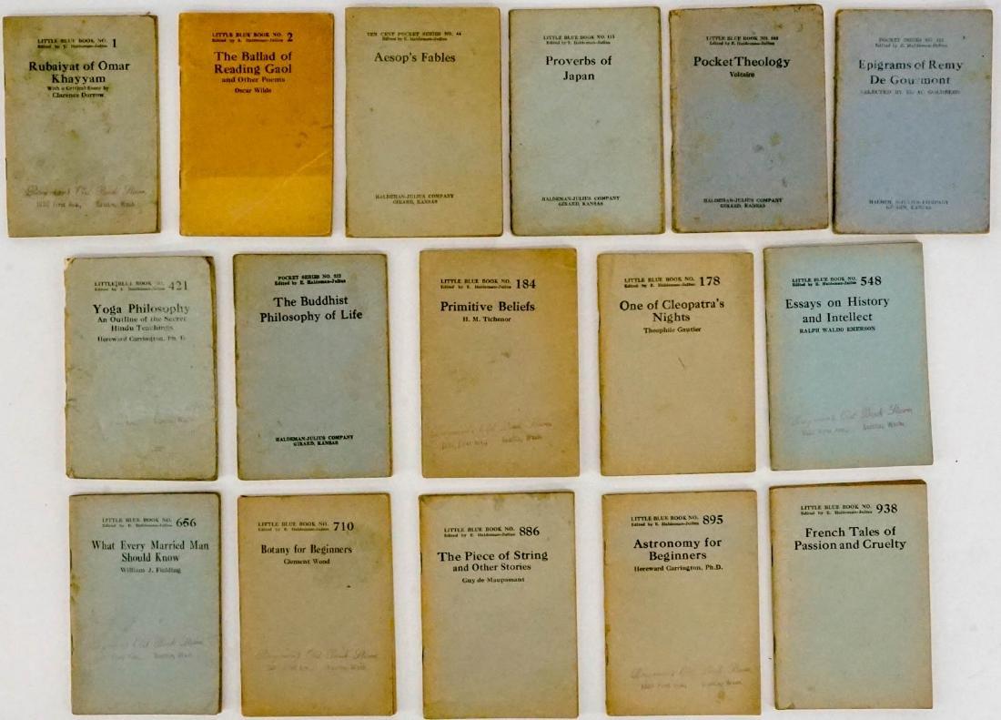 (16) Little Blue Books Haldeman-Julius Co. - 2