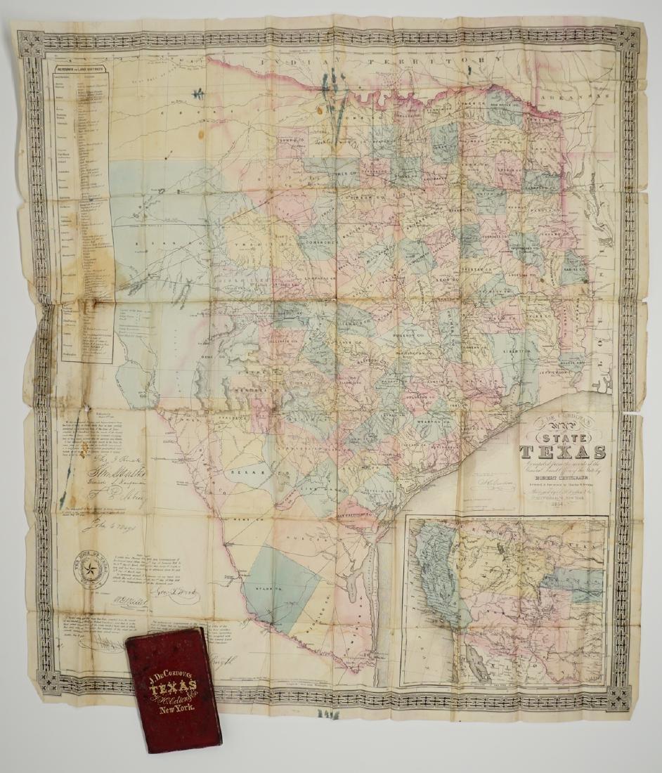 De Cordova's Map of the State of Texas, 1856