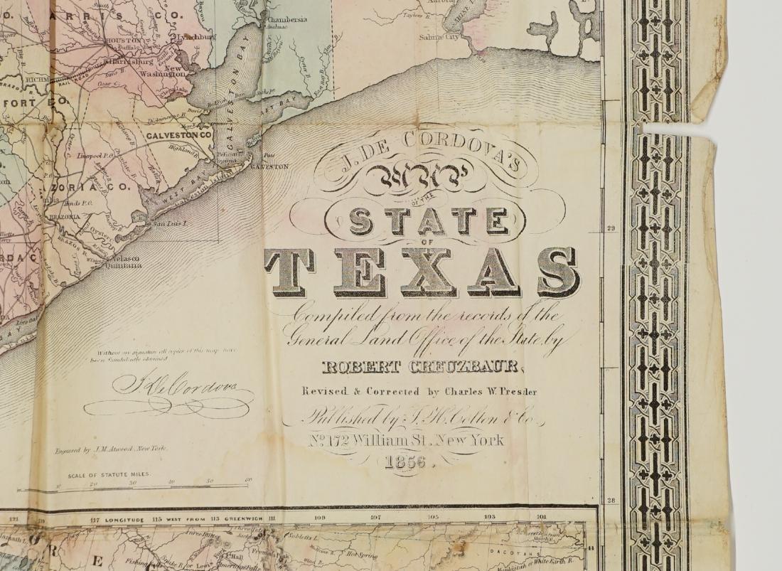 De Cordova's Map of the State of Texas, 1856 - 2