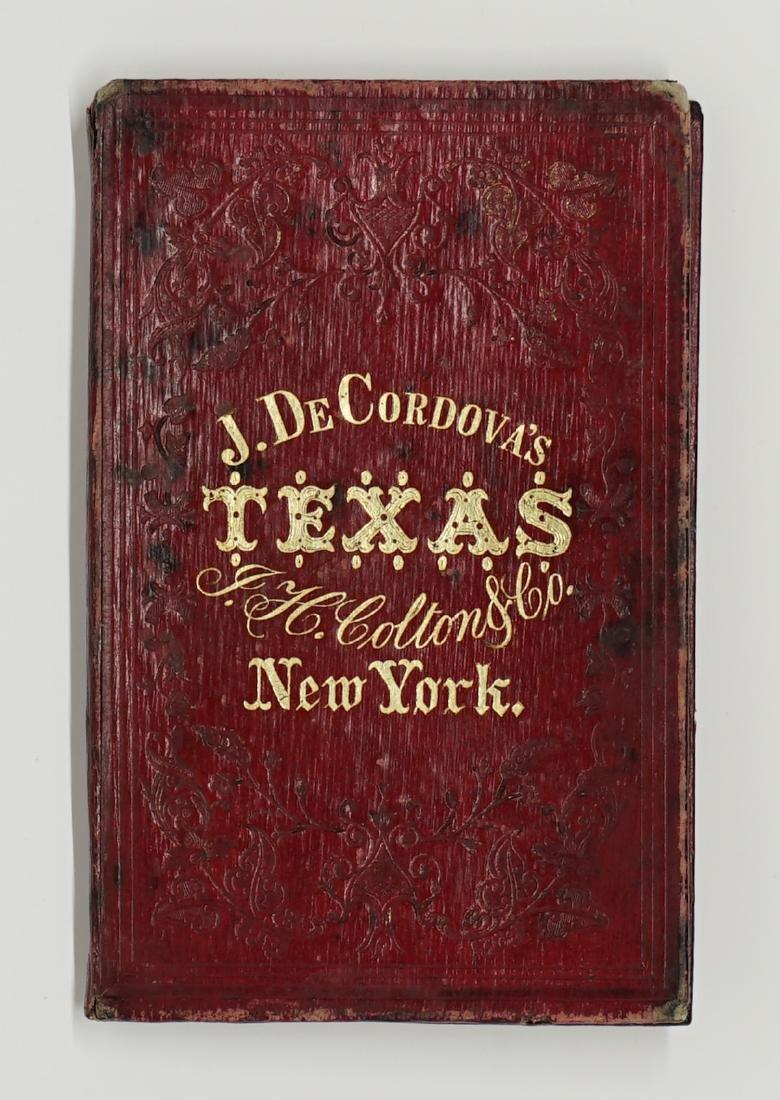 De Cordova's Map of the State of Texas, 1856 - 6