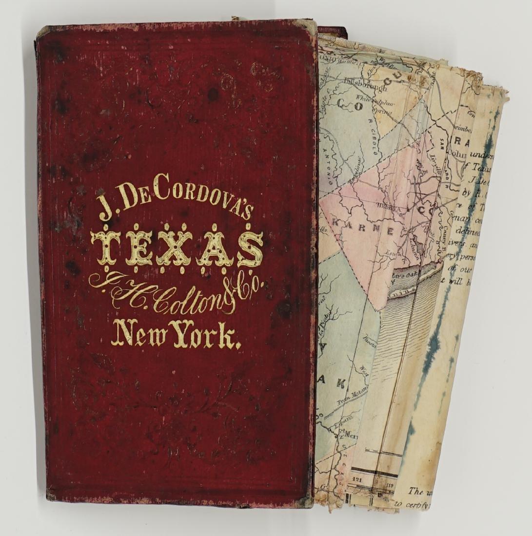 De Cordova's Map of the State of Texas, 1856 - 9