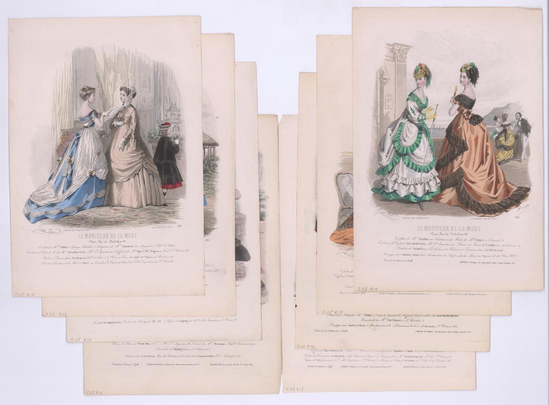 19th C. French Fashion Prints by Jules David [8]
