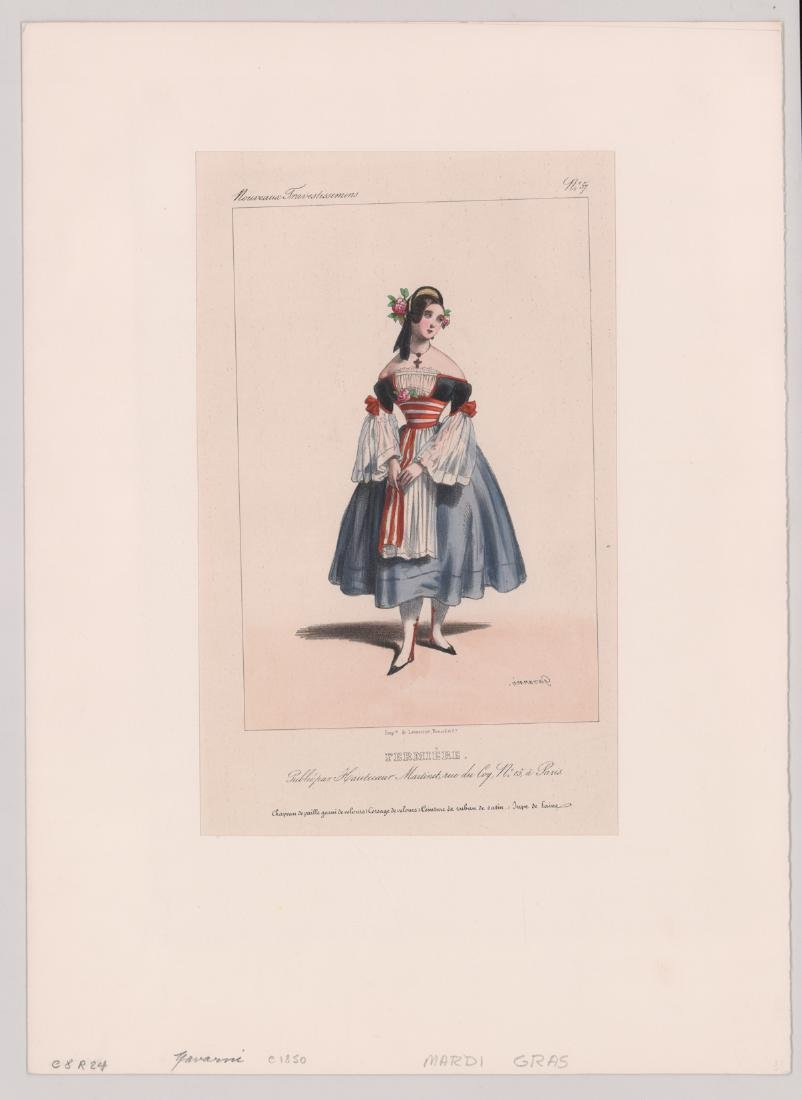 Ca.1802-1870's Hand Colored Fashion Prints (6) - 2