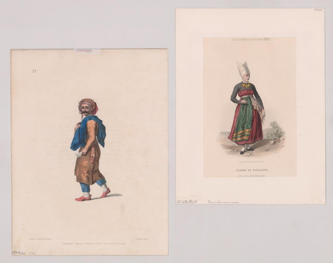 Ca.1802-1870's Hand Colored Fashion Prints (6) - 4