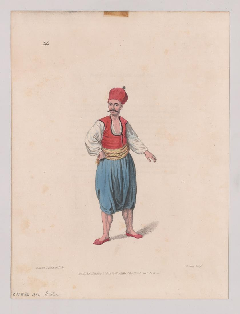 Ca.1802-1870's Hand Colored Fashion Prints (6) - 5