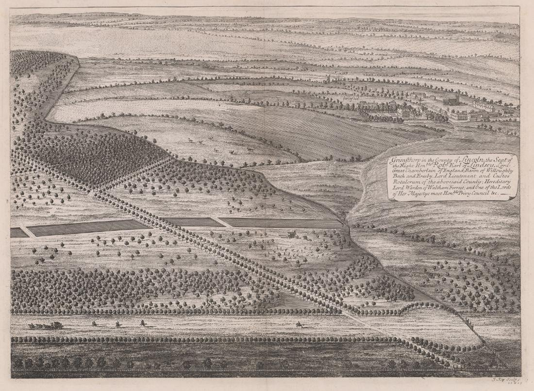 Dated 1749 After Jan Kip Map of England