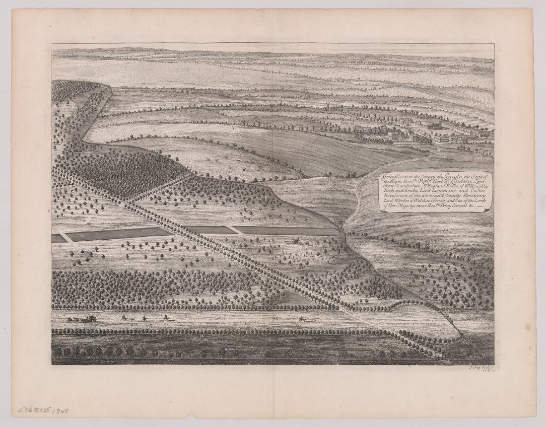 Dated 1749 After Jan Kip Map of England - 2