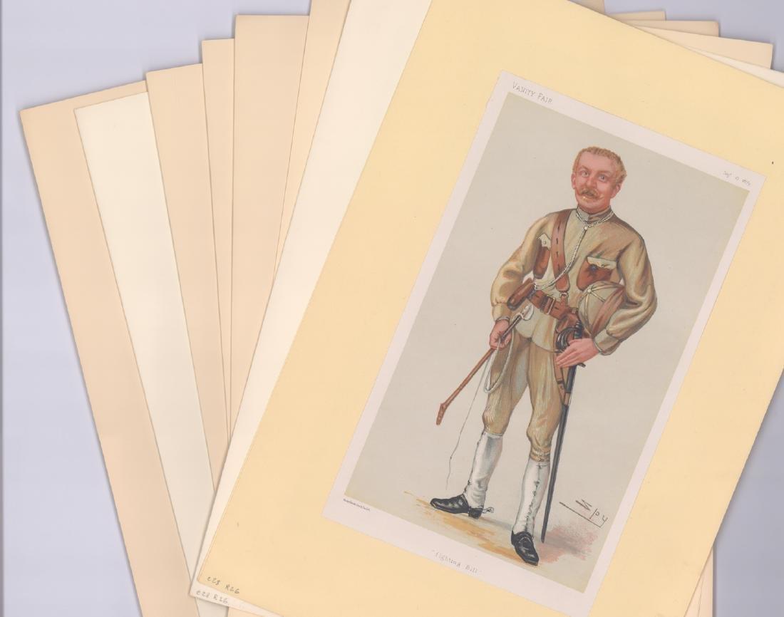 1880 - 1904 Vanity Fair Prints Military ( 8)