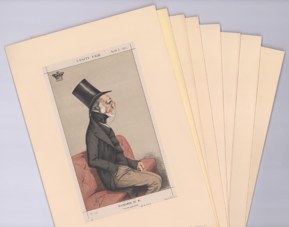 1869 - 1874 Vanity Fair Prints Politicians (8)
