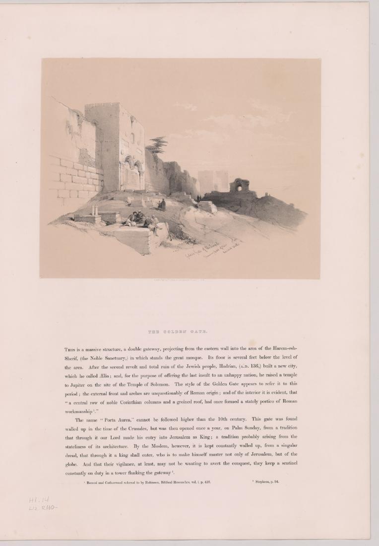 Ca.1842 David Roberts 'The Holy Land, Vol 1' (4) - 4