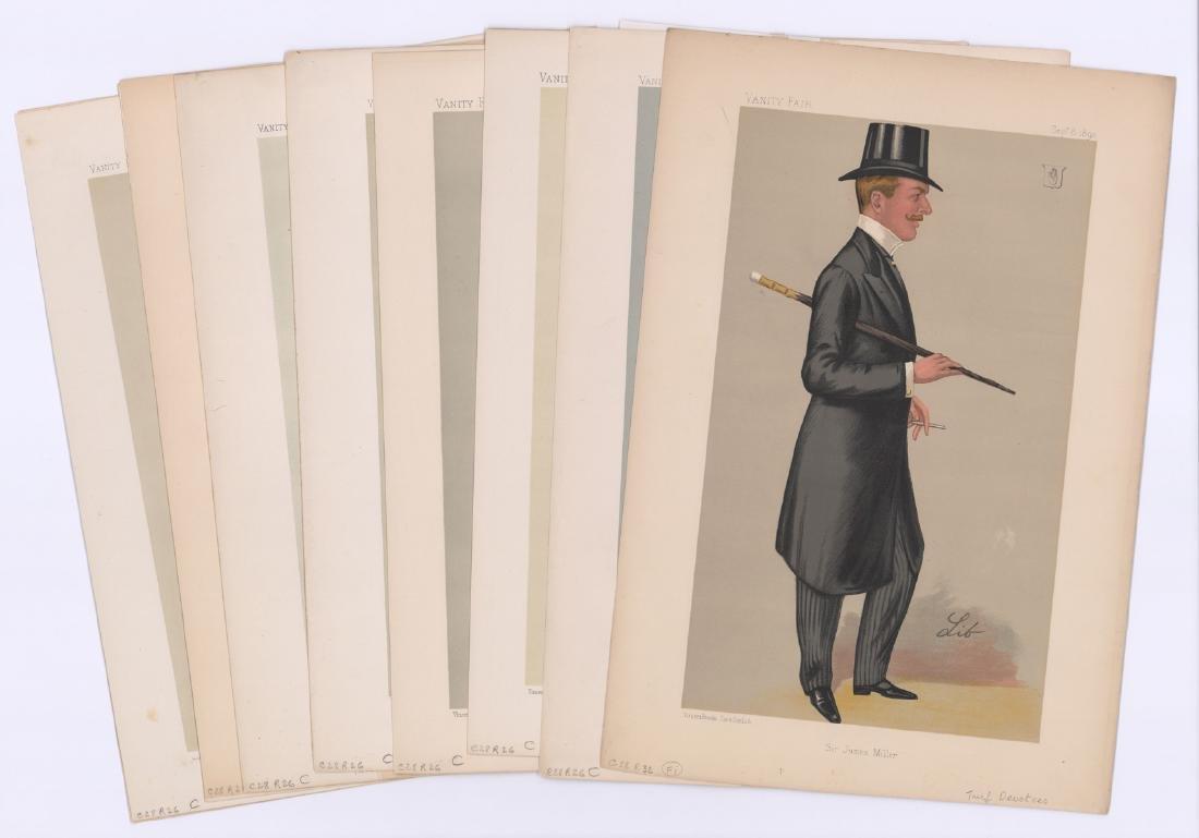 Ca. 1870's-80's Vanity Fair 'Turf Devotees' Prints