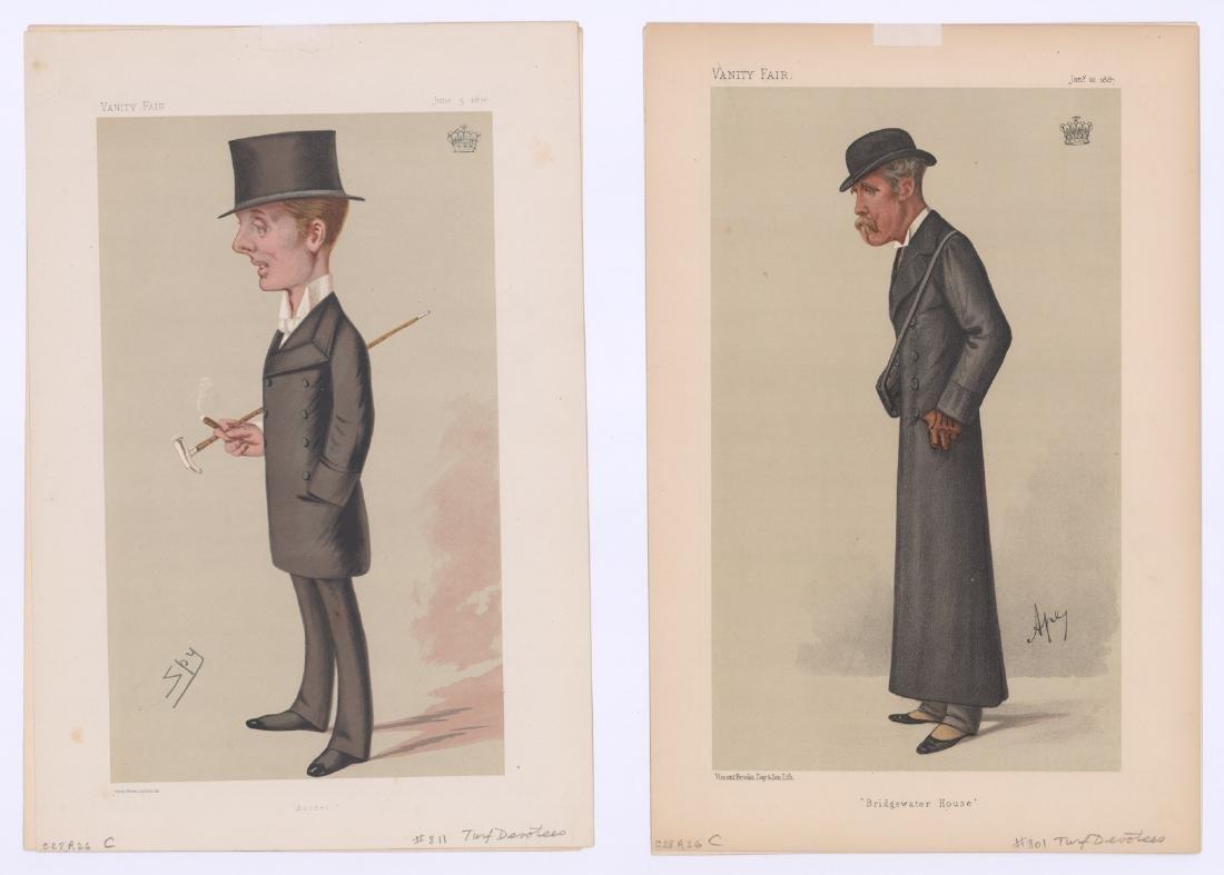 Ca. 1870's-80's Vanity Fair 'Turf Devotees' Prints - 2