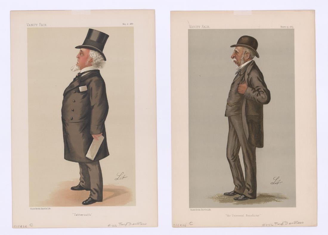 Ca. 1870's-80's Vanity Fair 'Turf Devotees' Prints - 4