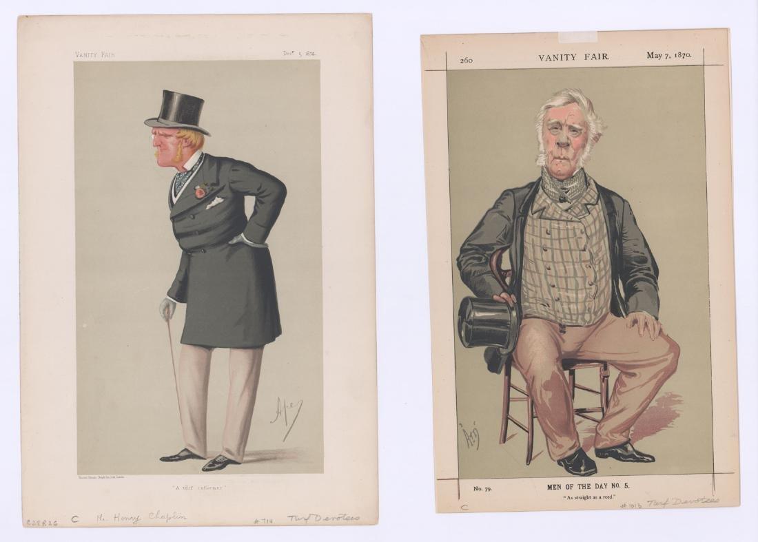 Ca. 1870's-80's Vanity Fair 'Turf Devotees' Prints - 5