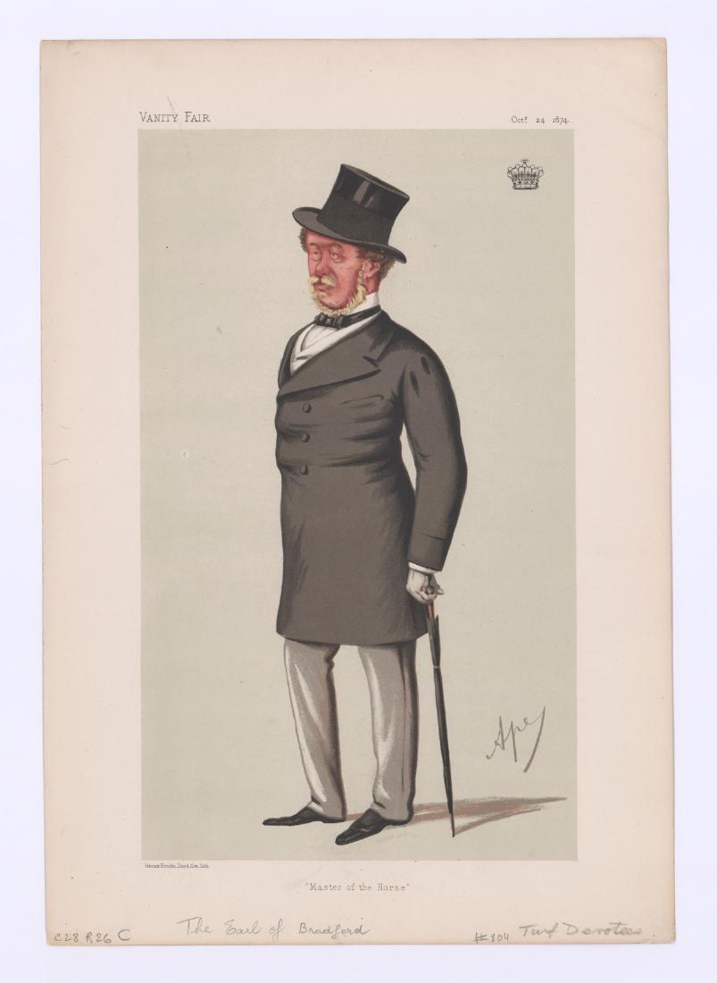 Ca. 1870's-80's Vanity Fair 'Turf Devotees' Prints - 6