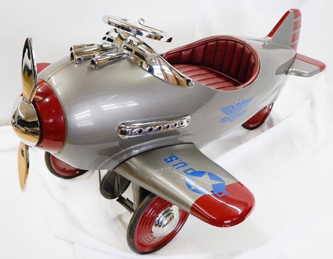 Restored 1941 Murray Steelcraft Pursuit Pedal Car