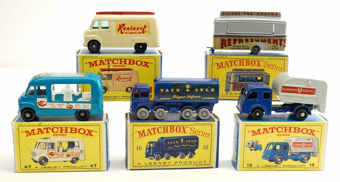 Matchbox Lesney Commercial Vehicles with Boxes (5)