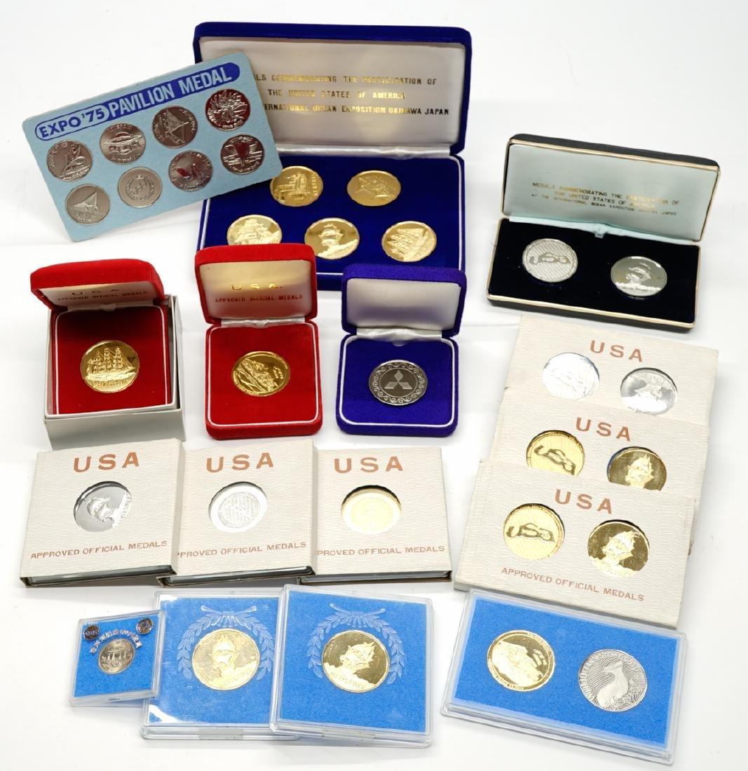 Japan Okinawa International Ocean EXPO '75 Medals