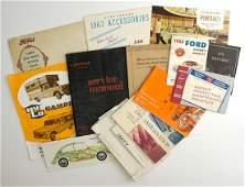 [Automobilia] Brochures and Manuals