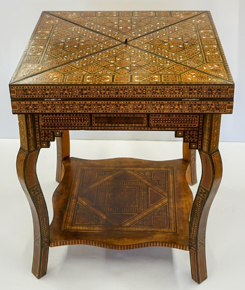 Old Anglo-Indian Inlaid Game Table
