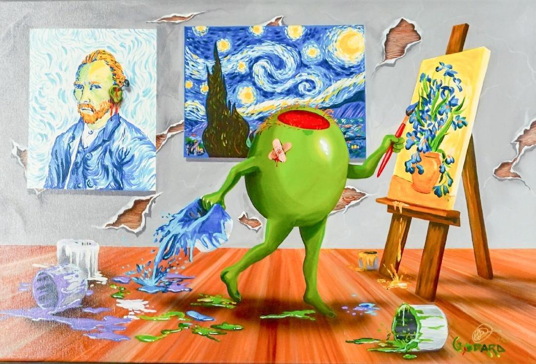 Michael Godard Giclee on Canvas Embellished