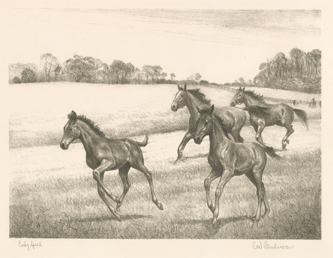 Clarence William Anderson Signed Lithograph