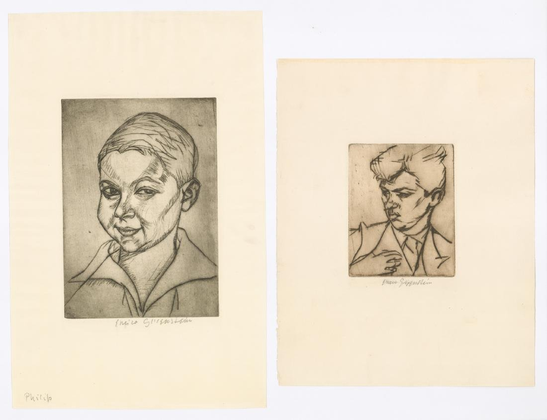 Henryk Enrico Glicenstein Signed Etchings (2)