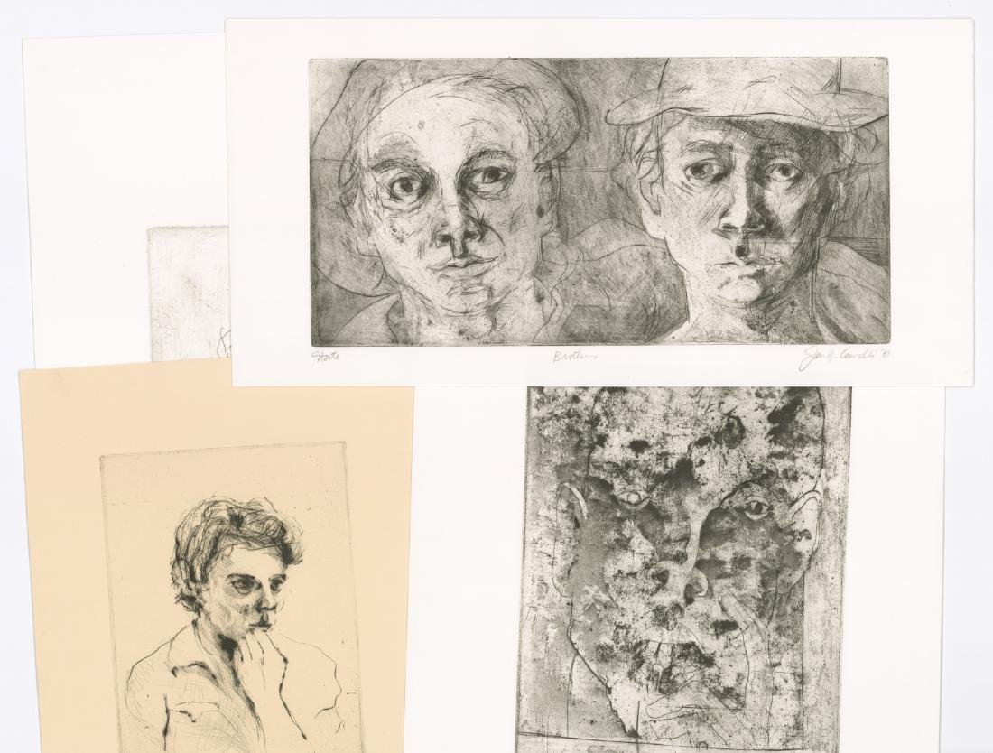 Jon Fasanelli-Cawelti Signed Etchings (4)