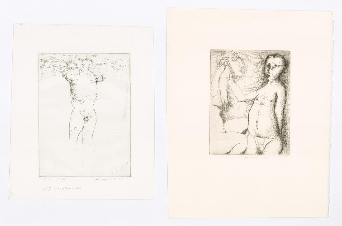 Dellas Henke Signed Etchings (2)