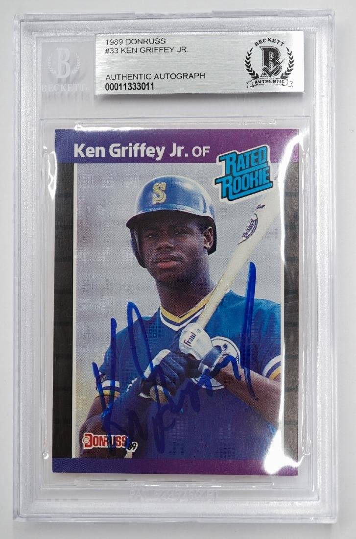 1989 Ken Griffey Jr Signed Rookie Card
