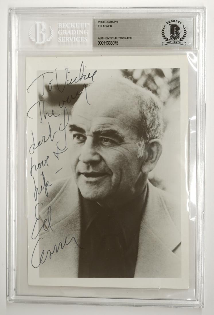 Ed Asner Signed Photo Beckett COA