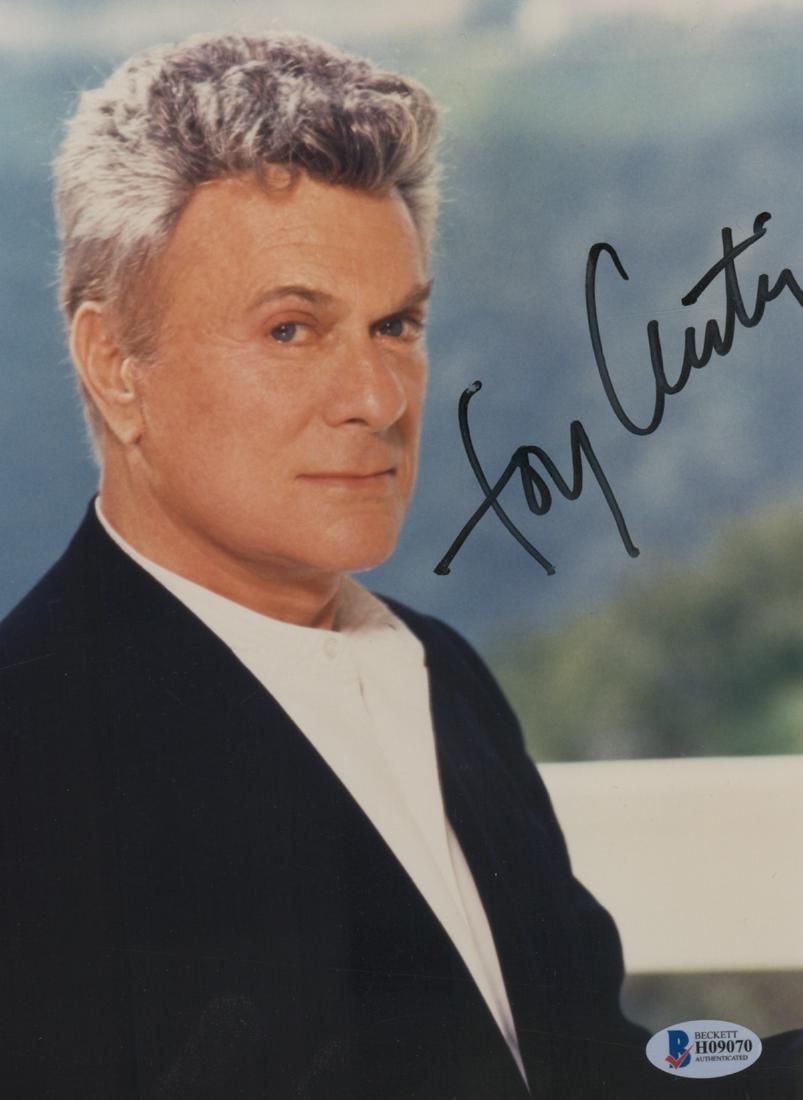 Tony Curtis Signed Color Photo Beckett COA