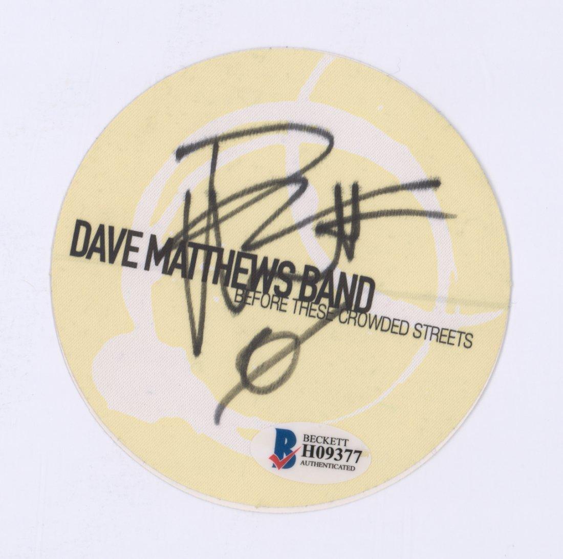 Dave Mathews Signed Backstage Security Pass