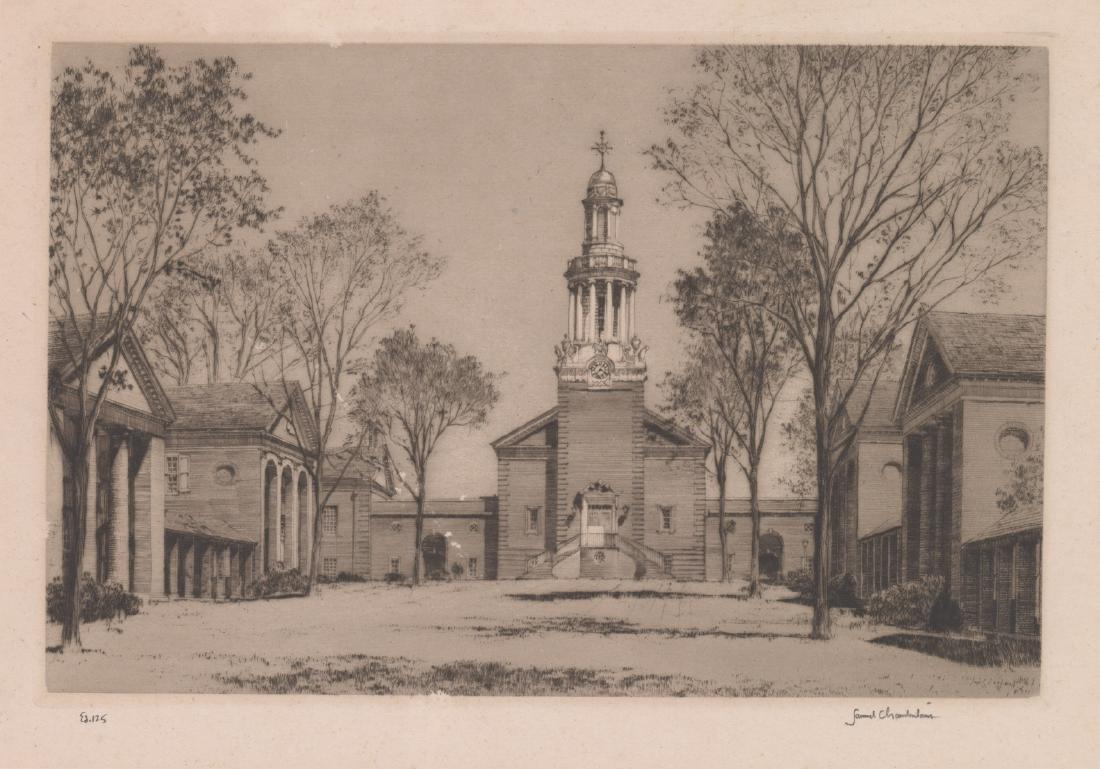 Samuel V. Chamberlain Signed Etching