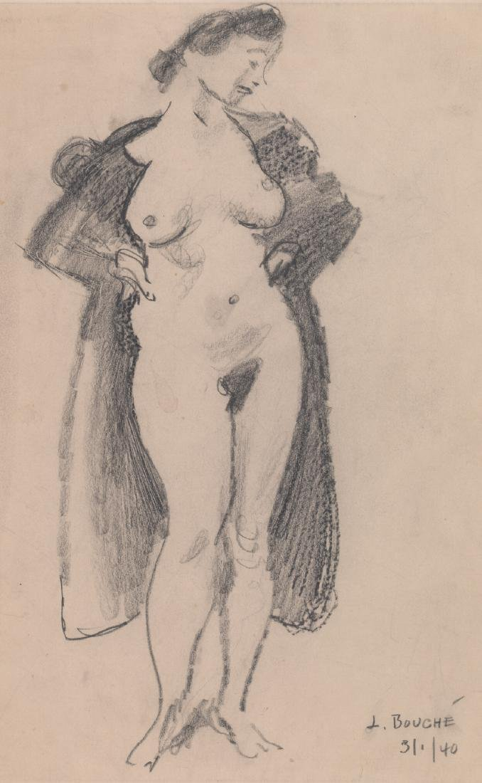 Louis George Bouche Pencil Drawing [Nude]