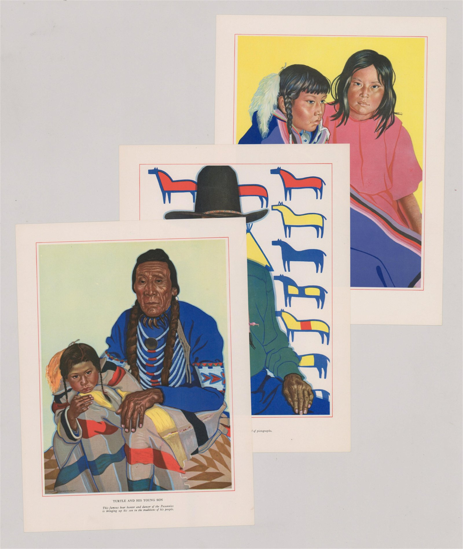 Winold Reiss Color Lithographs [Native American]