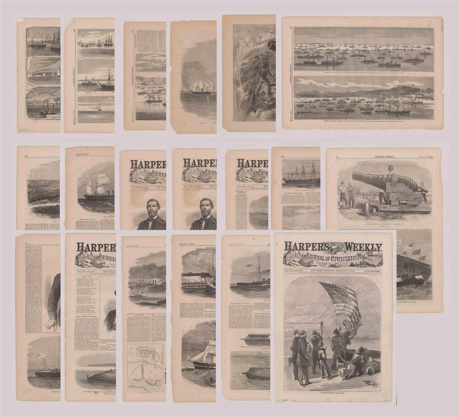 Harper's Weekly Prints [Civil War Naval Ships]