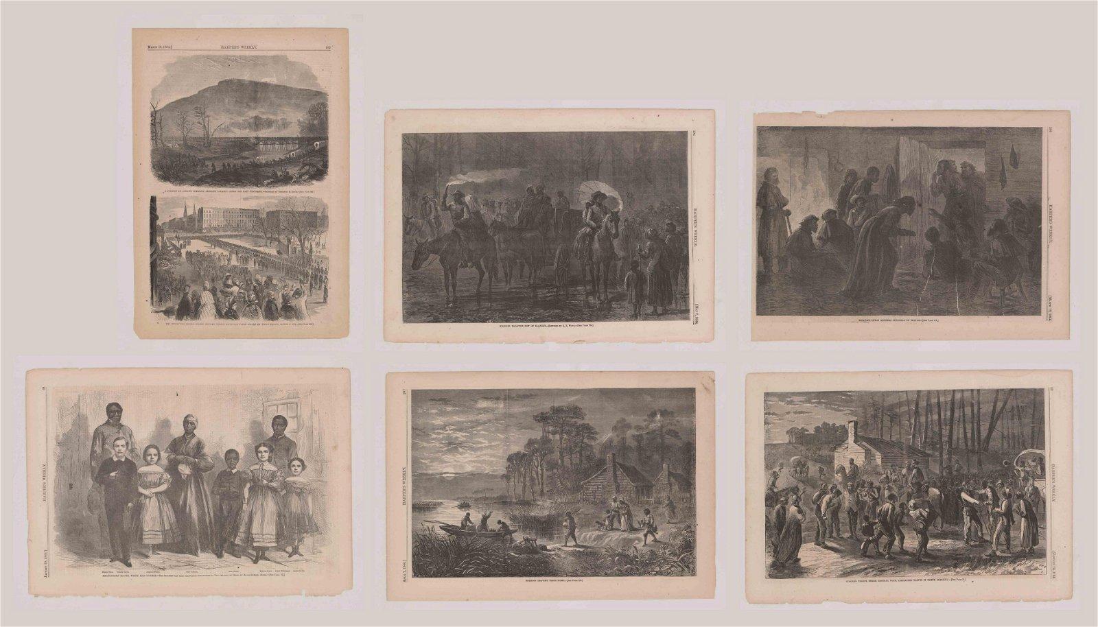Harper's Weekly Prints [Slaves in the Civil War]