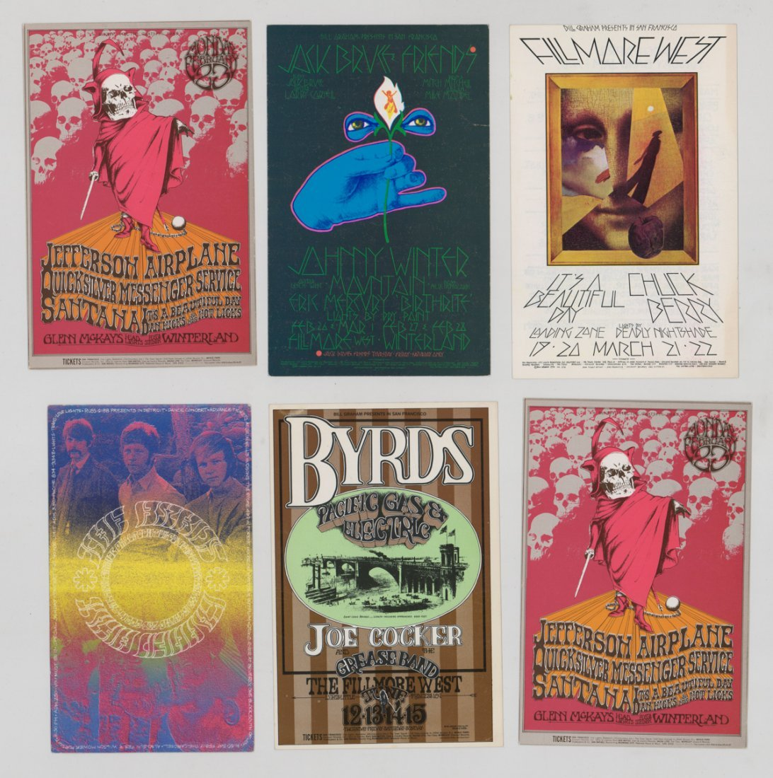 Bill Graham Rock 'n Roll Handbills and Postcard